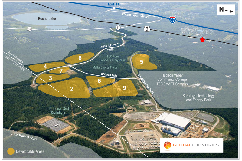 Luther Forest Technology Campus Map Sr